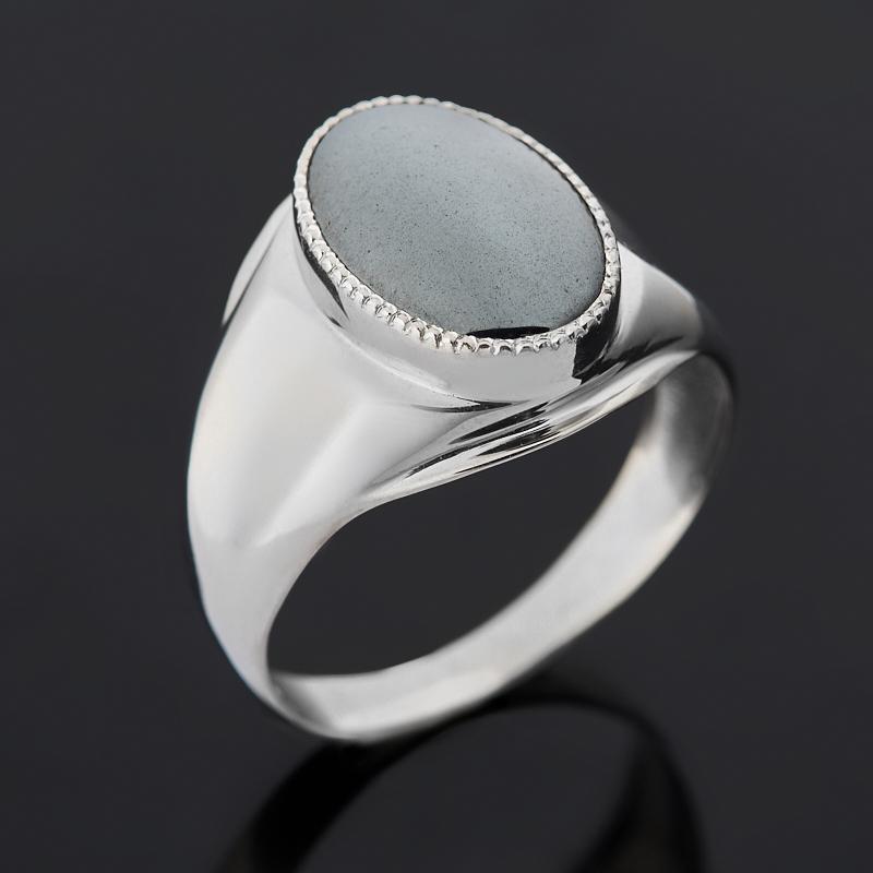 Кольцо гематит Бразилия (серебро 925 пр. родир. бел.) размер 23,5