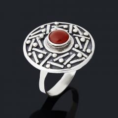 Кольцо сердолик Ботсвана (серебро 925 пр. оксидир.) размер 19