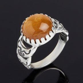 Кольцо солнечный камень Индия (серебро 925 пр. оксидир.) размер 17,5