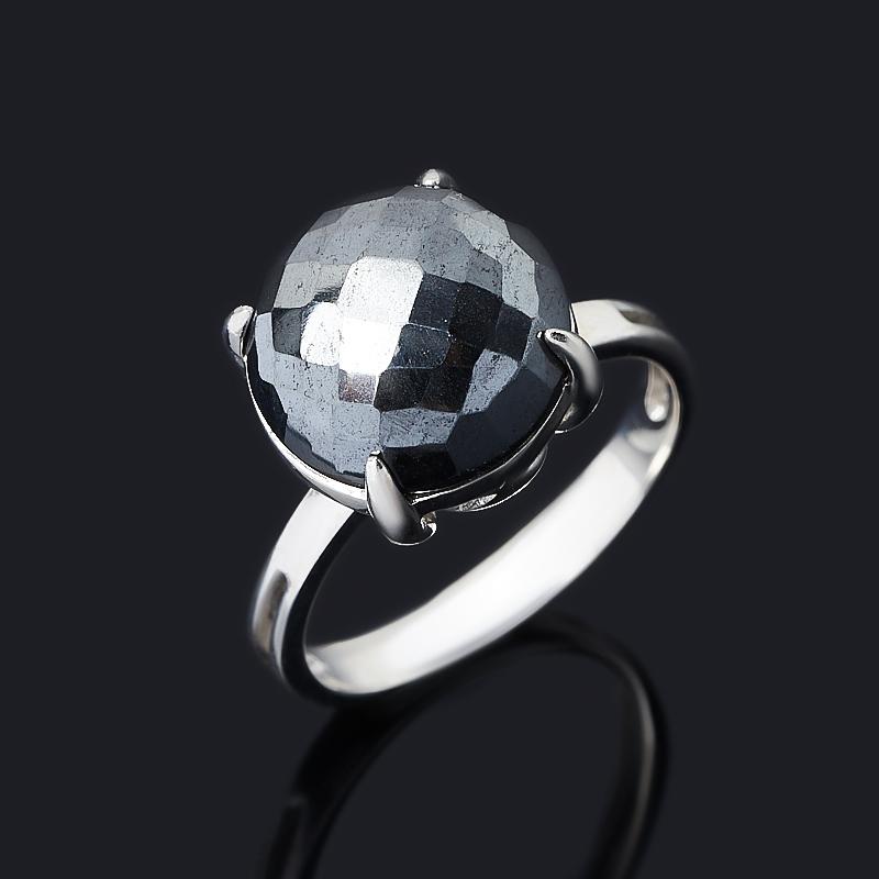 Кольцо гематит Бразилия (серебро 925 пр.) огранка размер 18