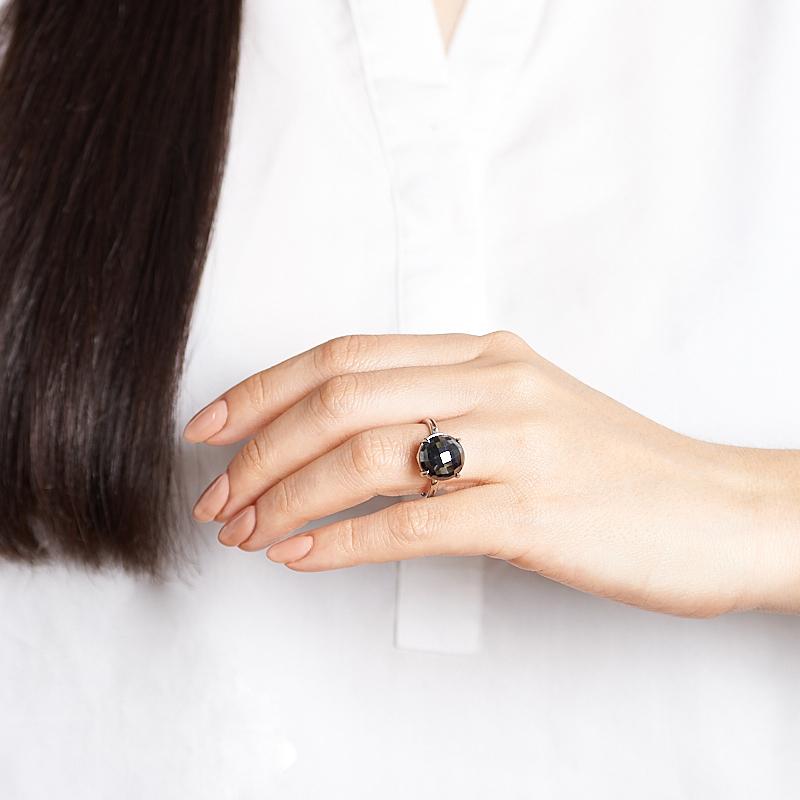 Кольцо гематит Бразилия (серебро 925 пр.) огранка размер 18,5
