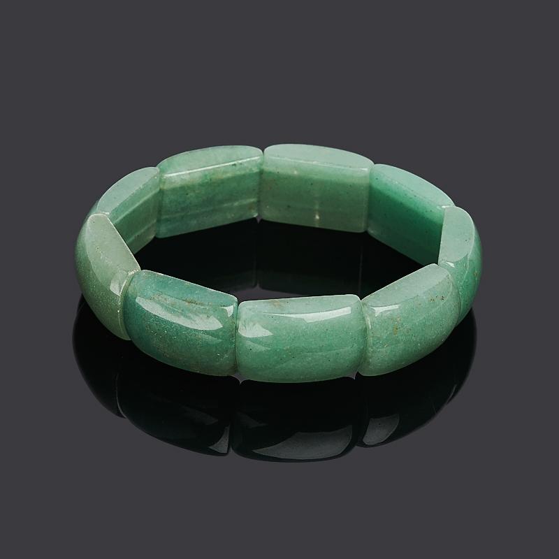 Браслет авантюрин зеленый 18 см