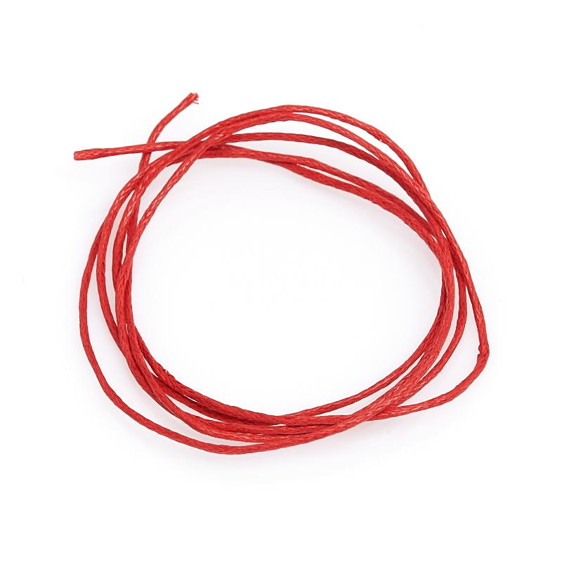 Шнурок (текстиль) (красный) 70 см