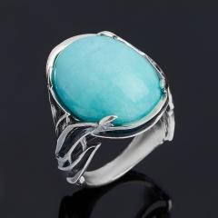 Кольцо амазонит Перу (серебро 925 пр. оксидир.) размер 18