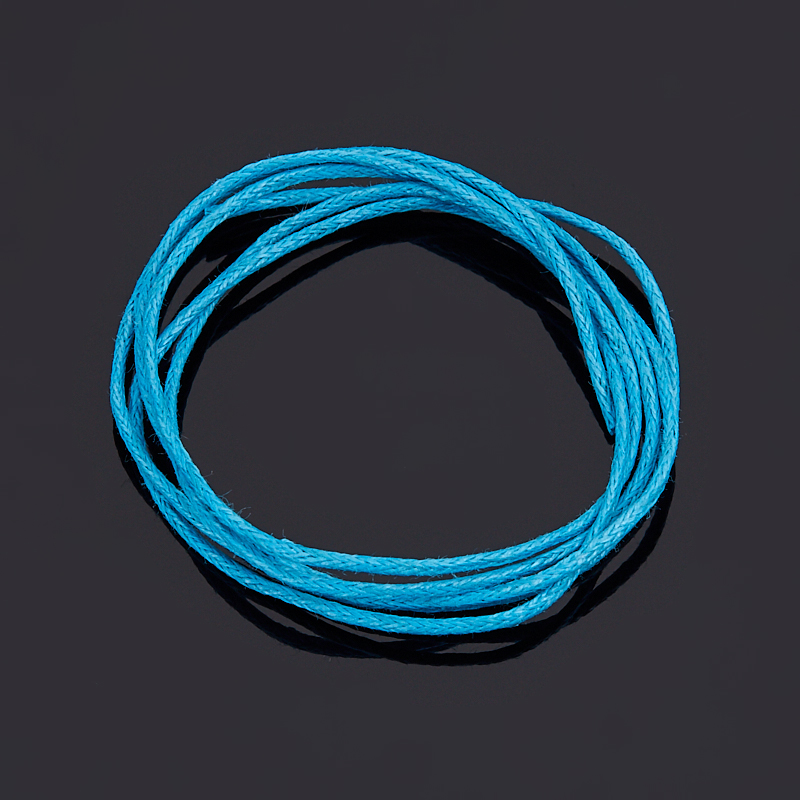 Шнурок (текстиль) (голубой) 70 см