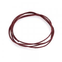 Шнурок (текстиль) (бордовый) 70 см
