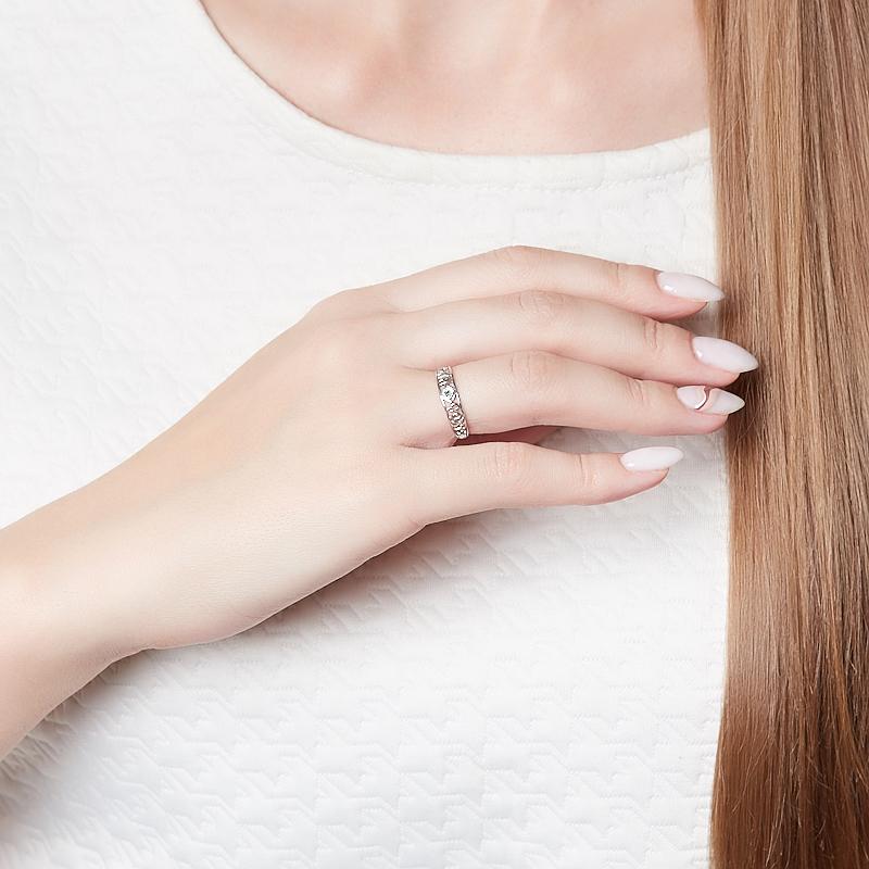 Кольцо Спаси и Сохрани изумруд Колумбия (серебро 925 пр. родир. бел.) огранка размер 16,5