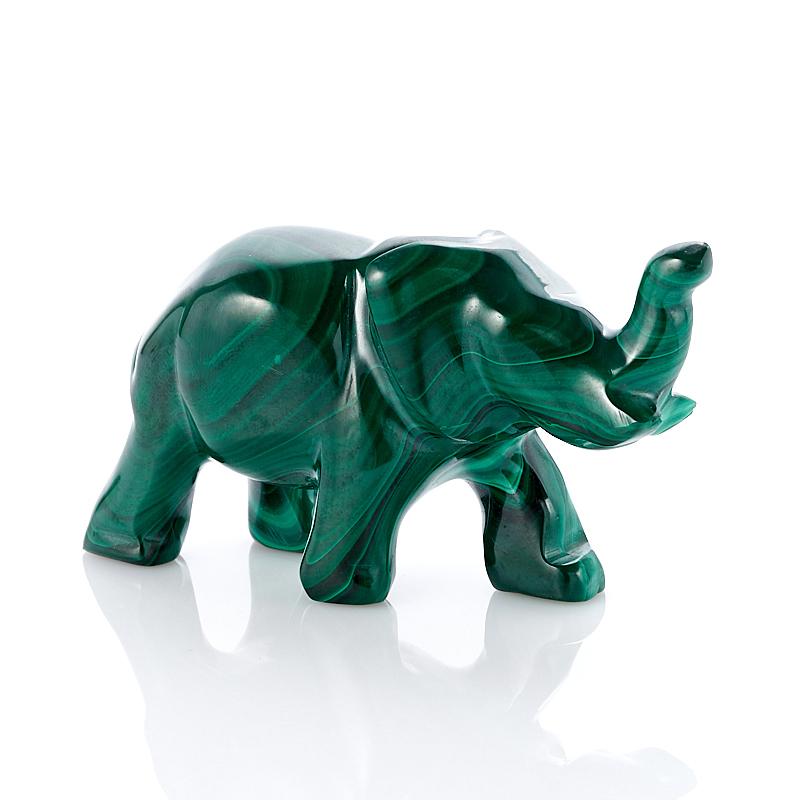 Слон малахит 7 см