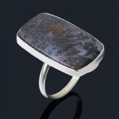 Кольцо агат пейзажный Казахстан (нейзильбер) размер 19
