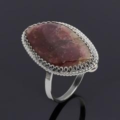 Кольцо турмалин розовый (рубеллит) Россия (нейзильбер) размер 17,5