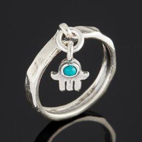 Кольцо бирюза пресс Тибет (серебро 925 пр. оксидир.) размер 17
