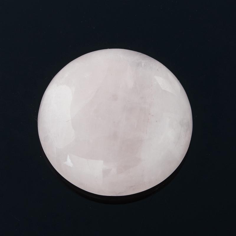 Кабошон розовый кварц  15 мм