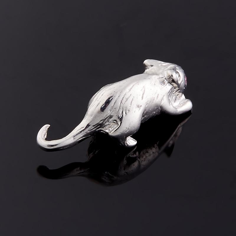 Денежный талисман рубин Мьянма (серебро 925 пр. родир. бел.) (мышь кошельковая)