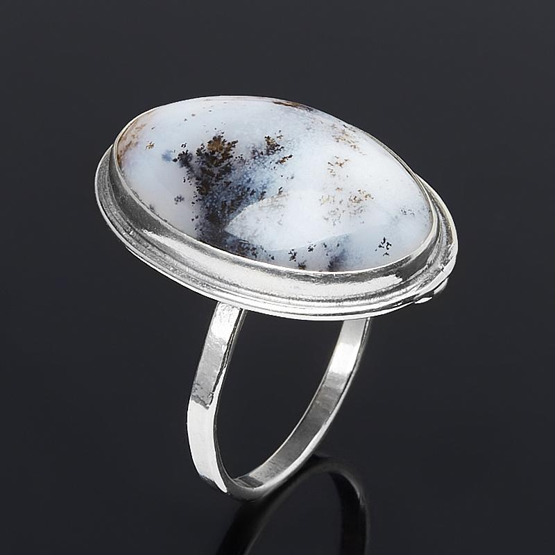 Кольцо агат пейзажный (нейзильбер) размер 19,5