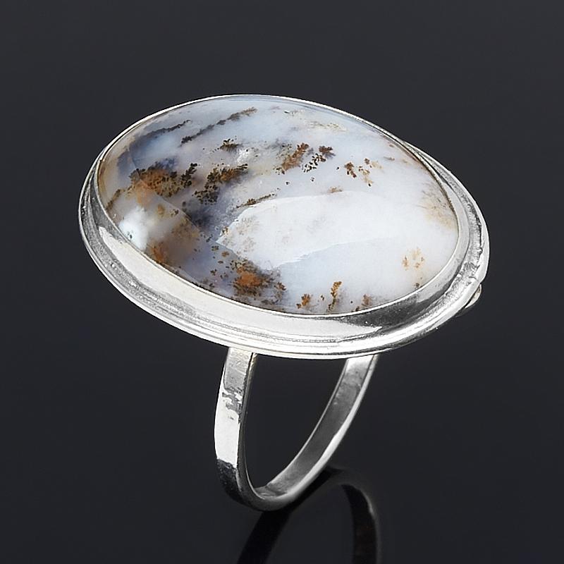 Кольцо агат пейзажный (нейзильбер) размер 20
