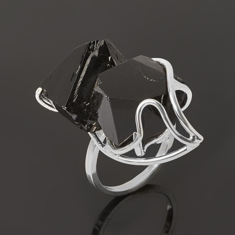 Кольцо морион Россия (серебро 925 пр.) размер 17,5