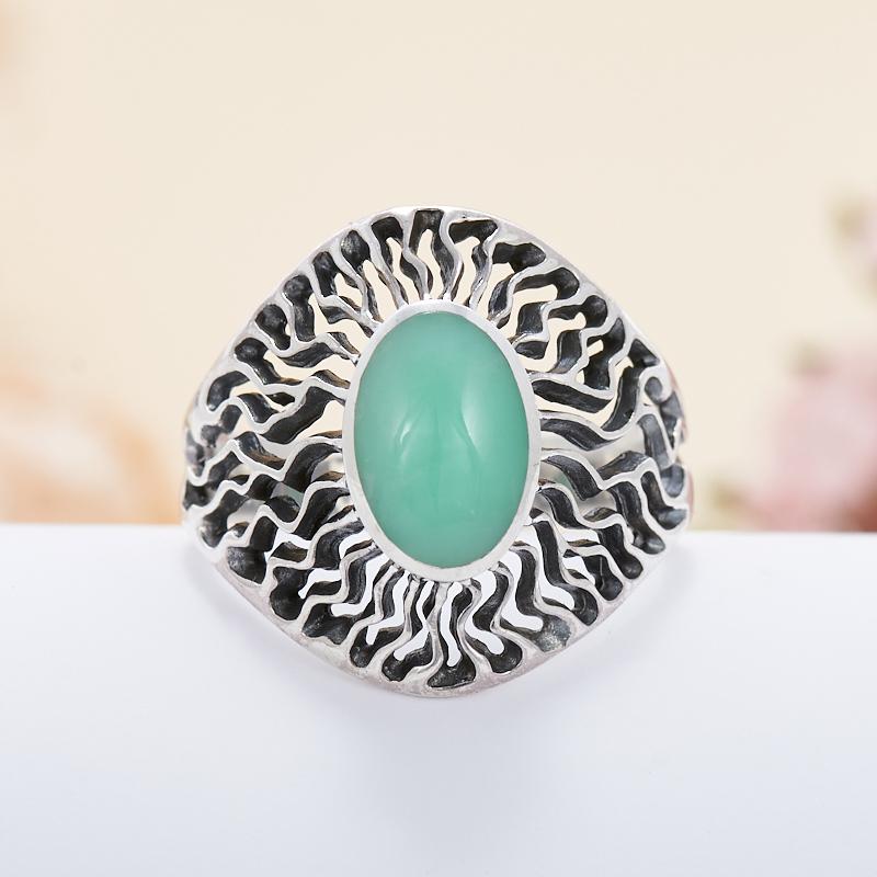 Кольцо хризопраз  (серебро 925 пр.)  размер 19,5