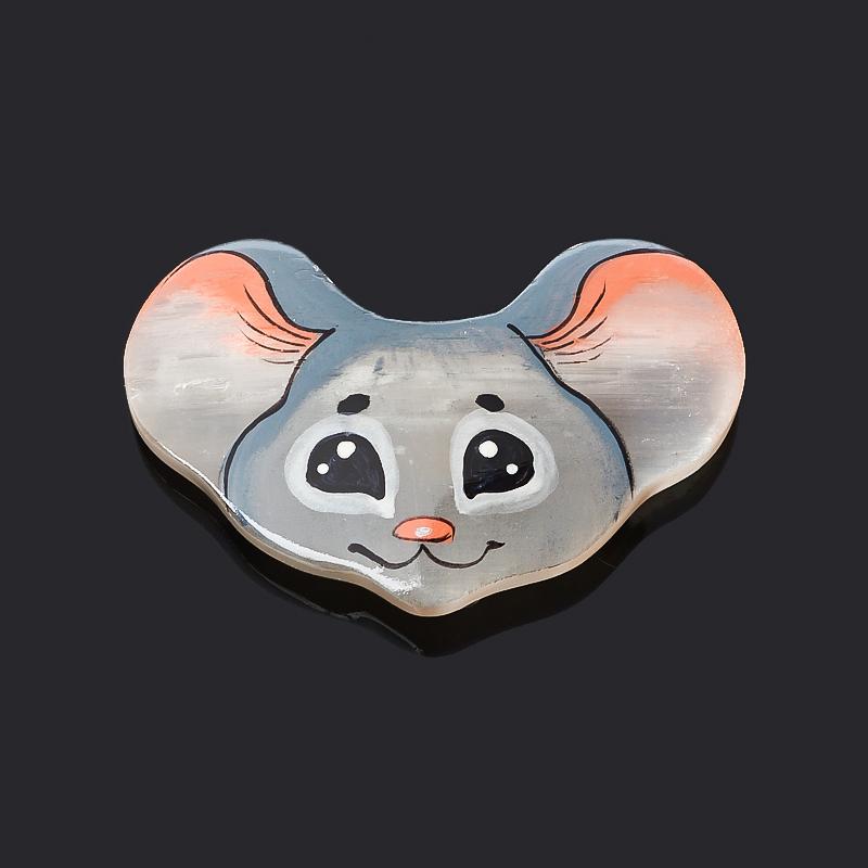 Магнит мышка селенит 5 см магнит мышка селенит 4 5 см