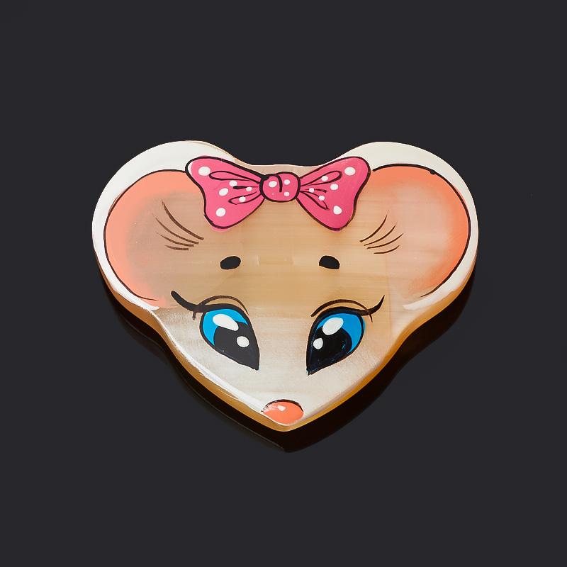 Магнит мышка селенит 4,5 см магнит мышка селенит 4 5 см