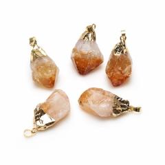 Кулон цитрин Бразилия (биж. сплав) кристалл 5-5,5 см