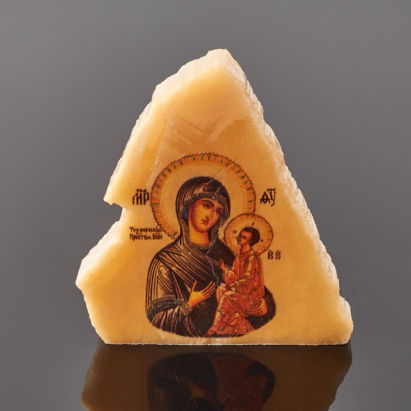 Фото - Изображение селенит Богоматерь Тихвинская 4-5 см изображение янтарь богоматерь владимирская 13х16 см