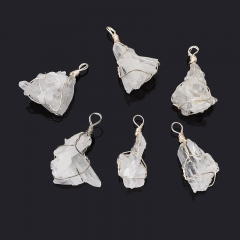Кулон горный хрусталь Бразилия (биж. сплав) кристалл 4-5 см