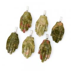 Кулон унакит ЮАР (биж. сплав) 5-5,5 см
