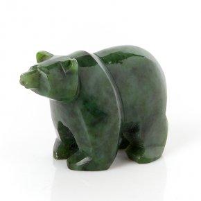 Медведь нефрит зеленый Россия 6,5 см