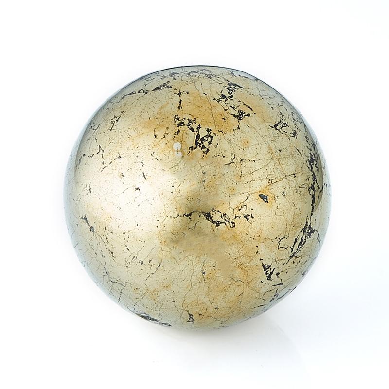 Шар халькопирит 4,5 см фото