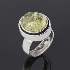 Кольцо берилл желтый (гелиодор) Россия (серебро 925 пр.) размер 17