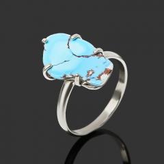 Кольцо бирюза (дублет) Казахстан (нейзильбер) размер 18,5