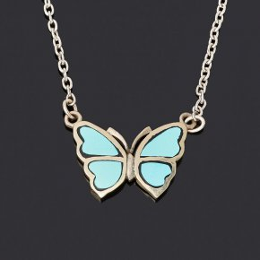 Кулон бирюза Казахстан (нейзильбер) бабочка