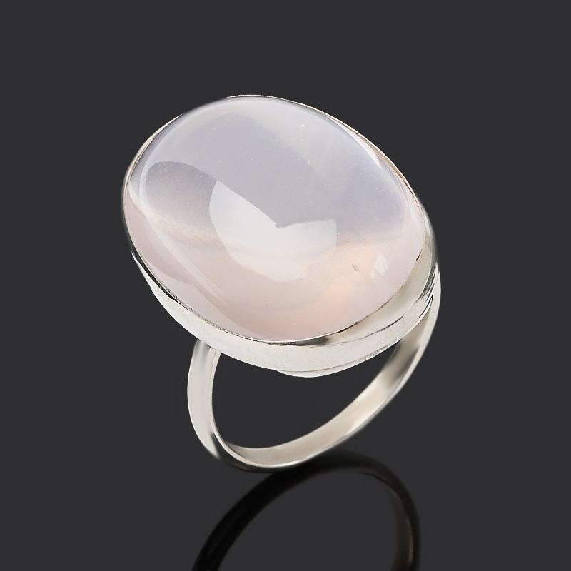 Кольцо розовый кварц (нейзильбер) размер 18,5
