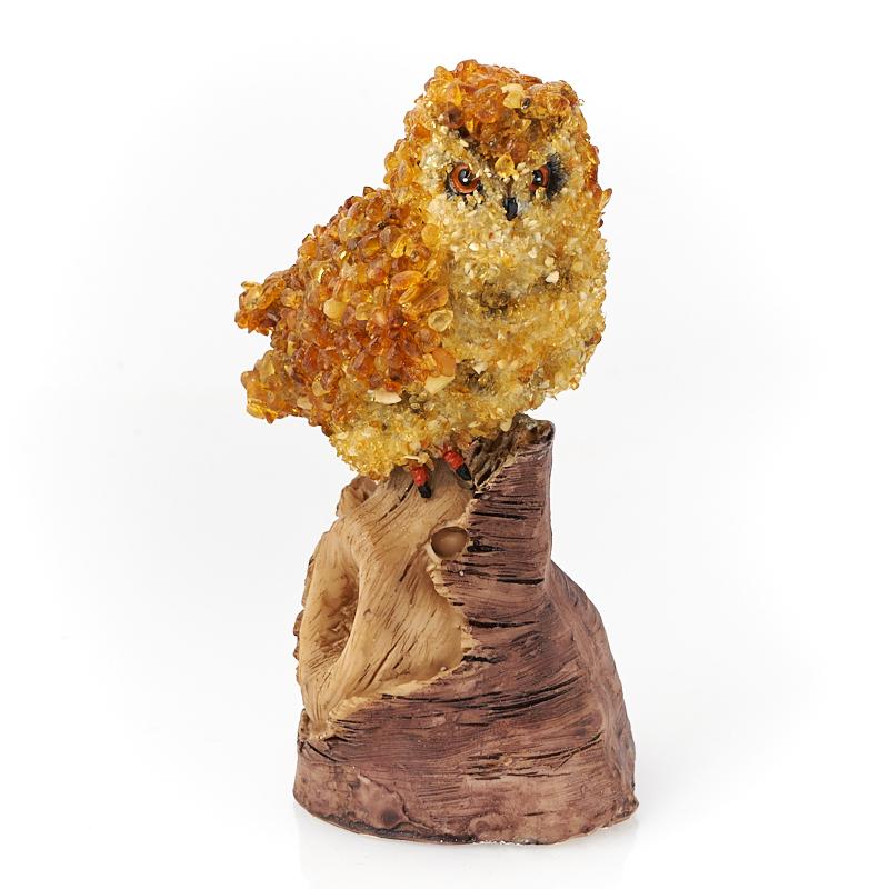 Сова янтарь 12,5 см фото