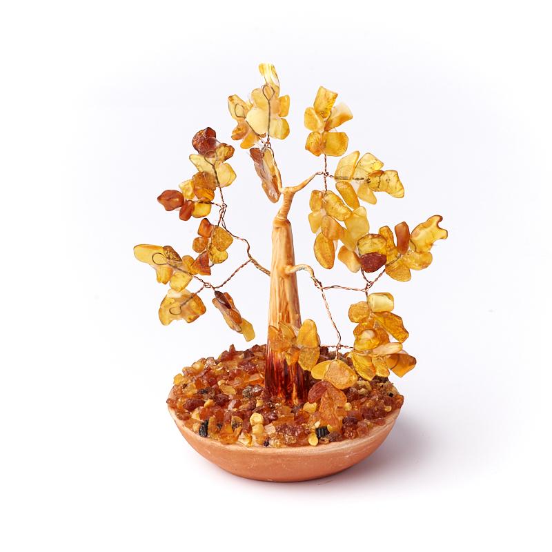 Дерево счастья янтарь Россия 10 см