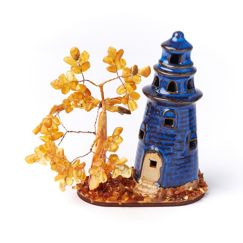 Дерево счастья янтарь 12 см
