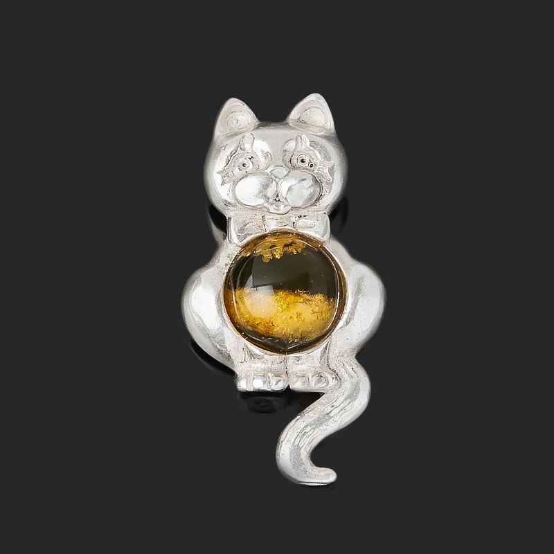 Кулон янтарь (латунь посеребр.) 3 см стоимость