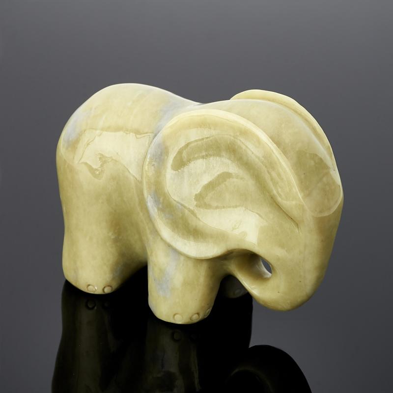 Слон офиокальцит 6 см