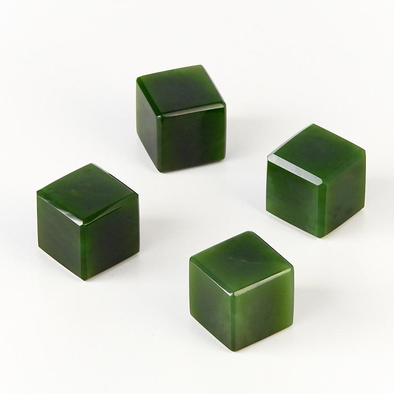 Куб для виски нефрит зеленый 2 см (1 шт)