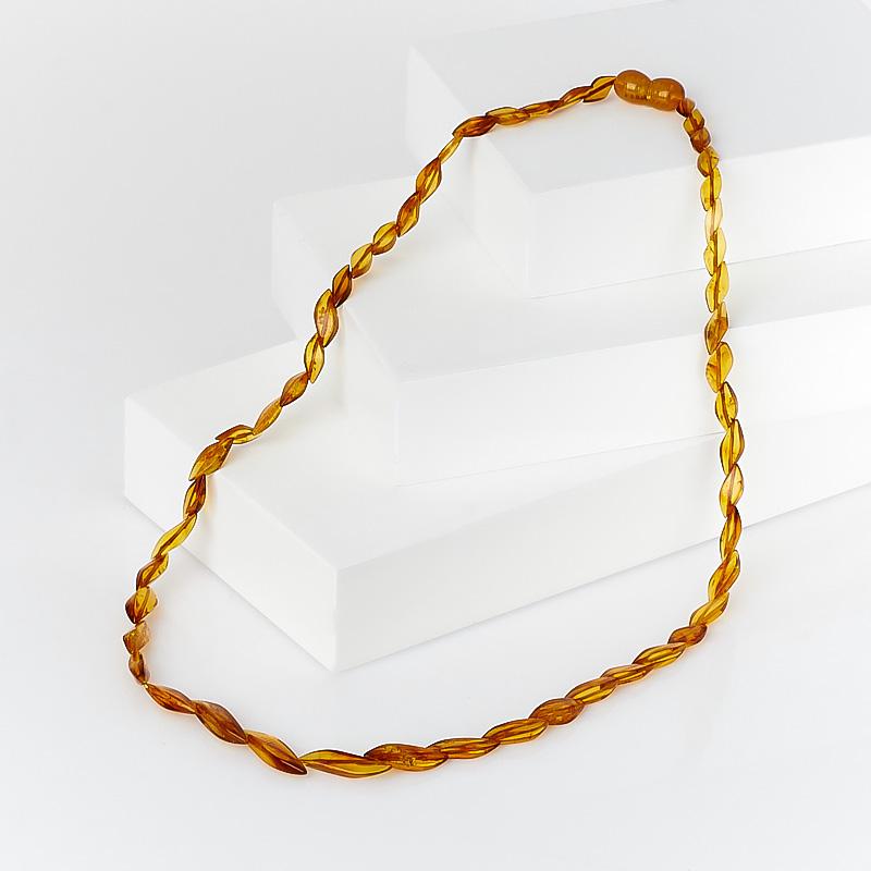 Бусы янтарь  47 см
