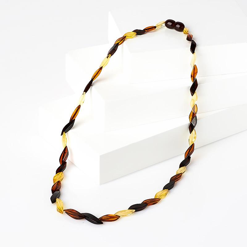 Бусы янтарь пресс  огранка 45 см