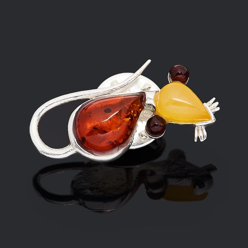 Брошь янтарь (латунь посеребр.) am 183 фигурка брошь кошка на шаре латунь янтарь