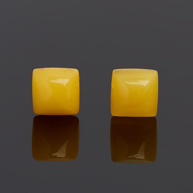 Серьги янтарь (латунь посеребр.) пуссеты стоимость
