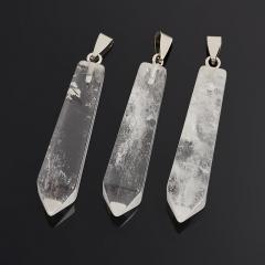Кулон горный хрусталь Бразилия (биж. сплав) кристалл огранка 6-6,5 см