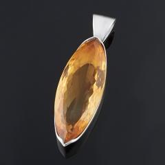 Кулон цитрин Бразилия (серебро 925 пр.) огранка