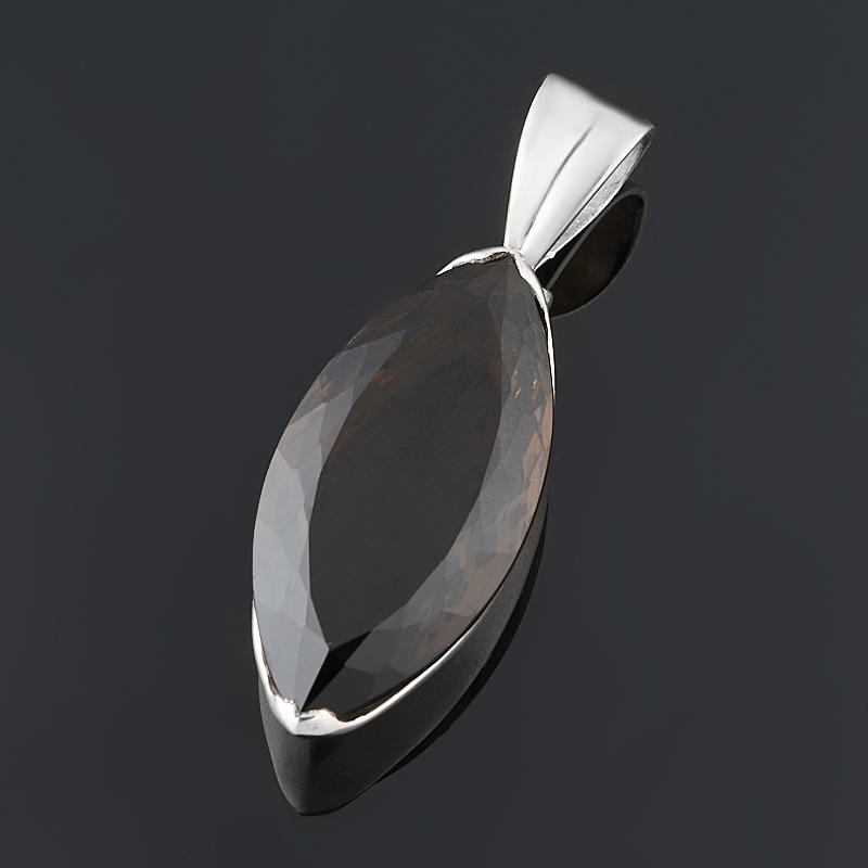 Кулон раухтопаз (серебро 925 пр.) огранка