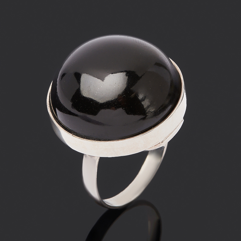 Кольцо гагат Грузия (серебро 925 пр.) размер 18,5