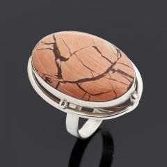 Кольцо яшма уральская Россия (серебро 925 пр.) размер 18,5