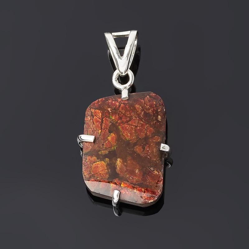 Кулон аммолит Канада (серебро 925 пр.)