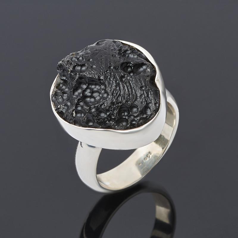 Кольцо тектит (серебро 925 пр.) размер 18